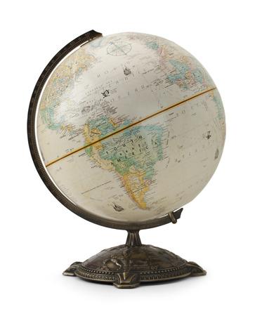 大型の地球儀は、白い背景で隔離。