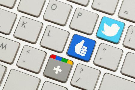 Keyboard with Popular Social Networking Launch Keys. 新聞圖片