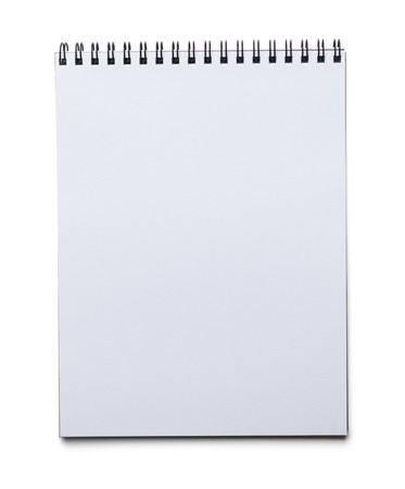Blank Spiral Art Pad Isolated on White Background. photo