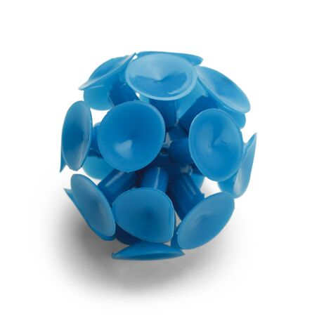 Blue Toy Plastic Ball Isolated on White Background.