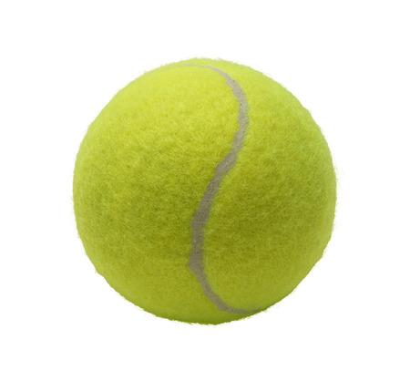 Green Tennis Ball Isolated on White Background. Standard-Bild