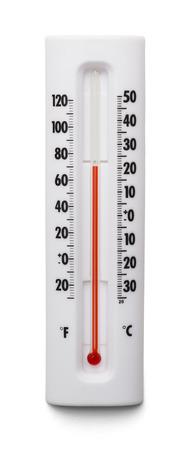 Wetter Themometer Isoliert auf weißem Hintergrund. Standard-Bild - 38386451