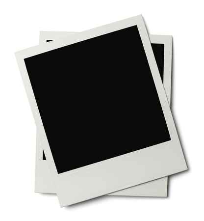 instant film transfer: Polaroids with Copyspace Isolated on White Background. Stock Photo