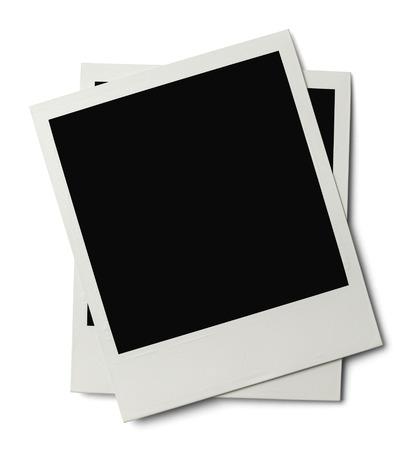 white polaroids: Polaroids with Copyspace Isolated on White Background. Stock Photo