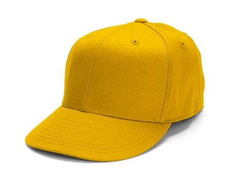 Yellow Baseball-Mütze mit Kopie Raum isoliert auf weißem Hintergrund. Standard-Bild - 38286952