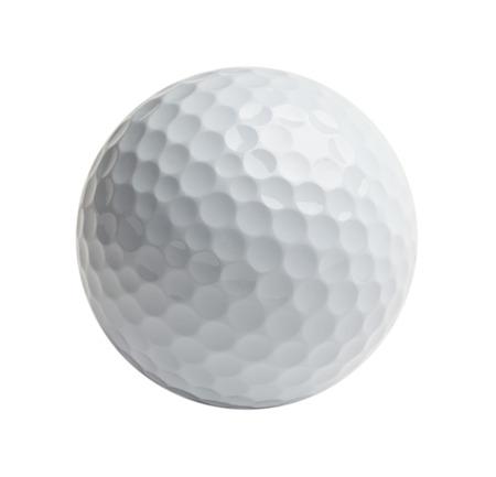 golf  ball: Pelota de golf profesional aislada sobre fondo blanco.