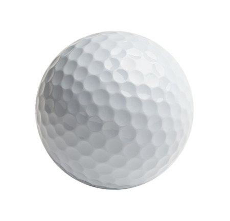 Professional golf ball Isolated on White Background. Banco de Imagens