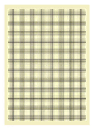 graph paper: Yellow and Black Lined Graph Paper Isolated on White Background. Stock Photo