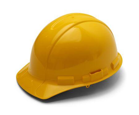contruction: Hard Plastic Contruction Helmet Isolated On White Background.