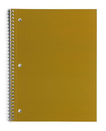 spiral notebook: Yellow School Line Paper Spiral Notebook Isolated on White Background.
