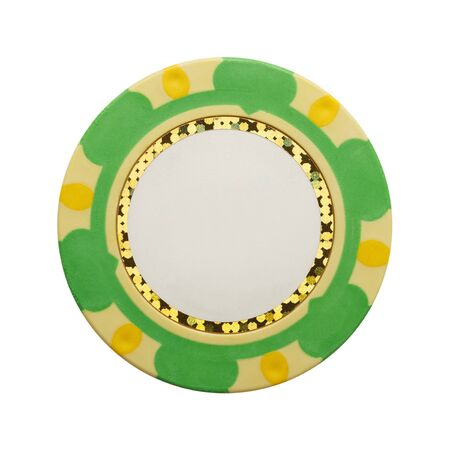 gambling chip: Casino Gambling Chip with Copy Space Isolated on White Background.