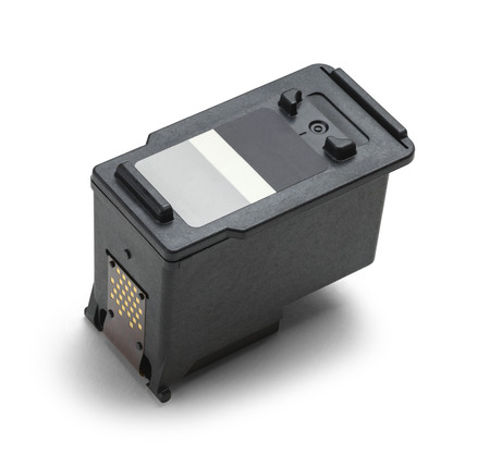 ink jet: Computer Ink Cartridge With Copy Space Isolated on White Background.