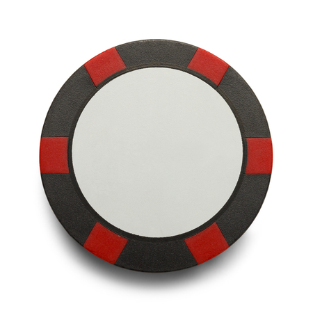 poker chip: Checkerd Poker Chip with Copy Space Isolaed on White Background.