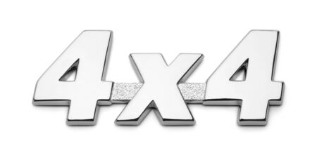 4 X 4 Truck icon Sign Isolated on White Back Background. Reklamní fotografie