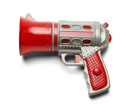 pistola: Extranjero pistola espacio aislado en el fondo blanco.