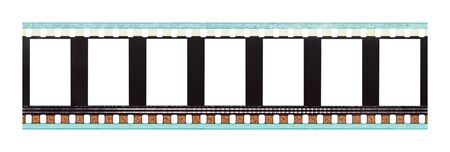 Film Strip with Copy Space Isolated on White Background.