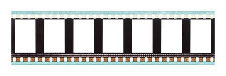 cinta pelicula: Tira de la película con espacio de copia aislada sobre fondo blanco. Foto de archivo
