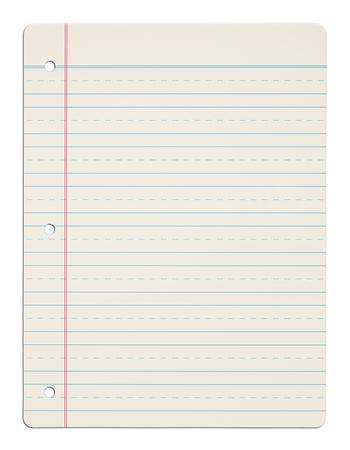 Kids School ABC Practice Paper Isolated on White Background. Archivio Fotografico