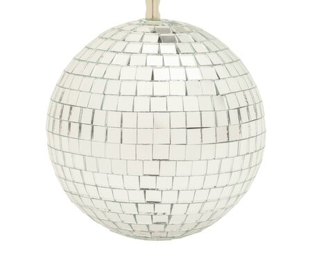 mirrorball: Glass Party Disco Ball Isolated on White Background.