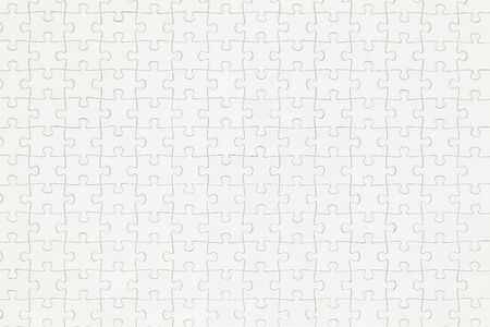 close  up: Closeup of Compeleted White Puzzle With Copy Space.