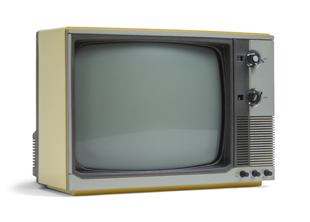 television set: Old Television Set with Copy Space Isolated on White Background.