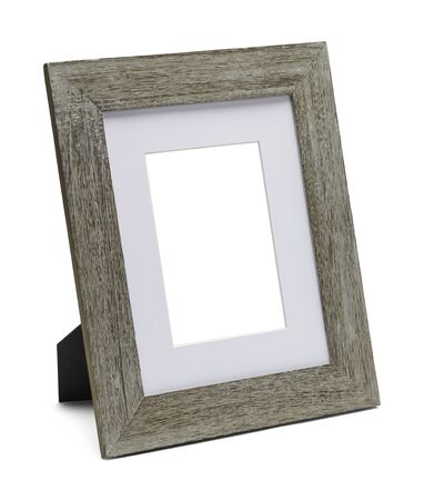 space wood: Wood Table Frame with Copy Space Isolated on White Background.