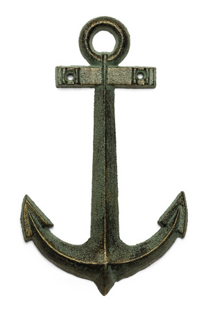 ship anchor: Sailing Boat Anchor Isolated on White Background. Stock Photo