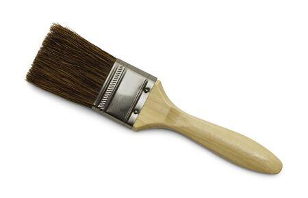Horse Hair Bristle Paint Brush Isolated on White Background. Reklamní fotografie