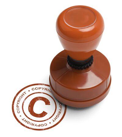 validez: Derechos de Autor Red Stamper aislados sobre fondo blanco. Foto de archivo