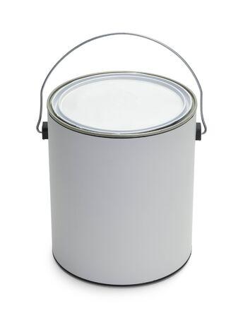 Un gallon de peinture Seau avec Espace texte isolé sur fond blanc. Banque d'images