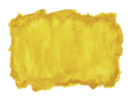 white washed: Yellow Watercolor Background with Copy Space Isolated on White.