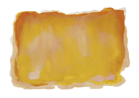 Yellow Orange Watercolor Background Isolated on White. Banco de Imagens