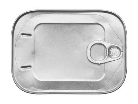 sardine can: New Sardine Can Isolated on White Background. Stock Photo