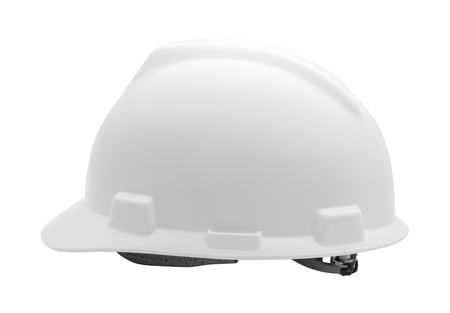 White Hard Hat Cut Out on White Background.