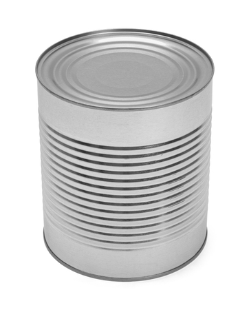 canned goods: Big Tin Can with Copy Space Isolated on White Background.