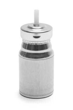 New Inhaler Medicine Bottle Isolated on White Background.