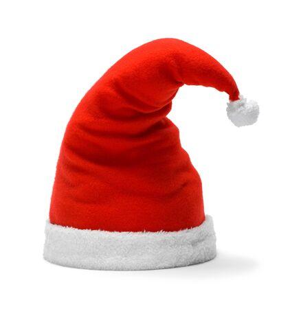 赤サンタ帽子白 Backfground に分離します。 写真素材