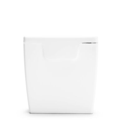 blank spaces: Closed Dental Floss Container Isolated on White Background.