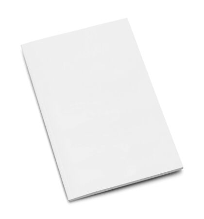 Small Blank White Book Isolated on White Background.