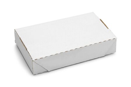 Mailer Box with Copy Space Isolated on White Background.