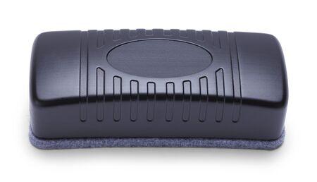 Black Dry Eraser Isolated on White Background. Banco de Imagens
