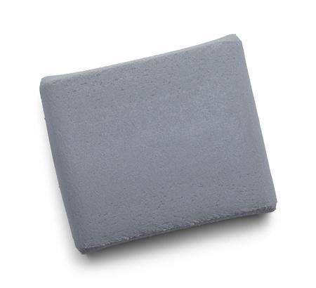 Grey Kneaded Art Eraser Isolated on White Background.