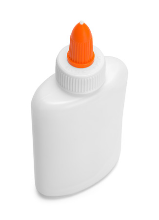 Bottle of Art Glue Isolated on White Background.