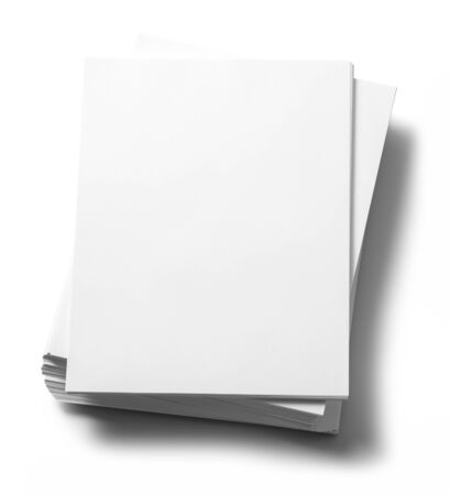 Stack of Copy Paper Isolated on White Background. Zdjęcie Seryjne