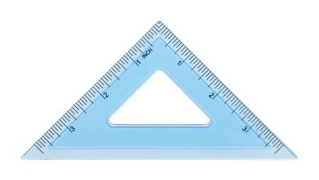 블루 40 삼각형 흰색 배경에 고립입니다.