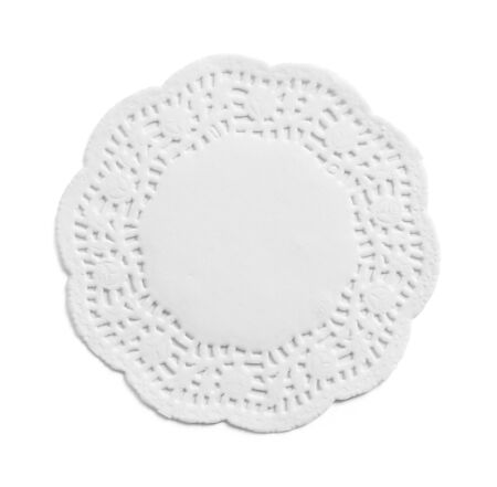 Ornate Paper Doily Isolated on a White Background.