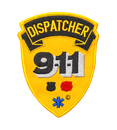 Nine Eleven Dispatcher Patch Isolated on White Background.