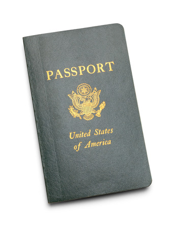 Vintage American Passport Isolated on a White Background. Stock fotó