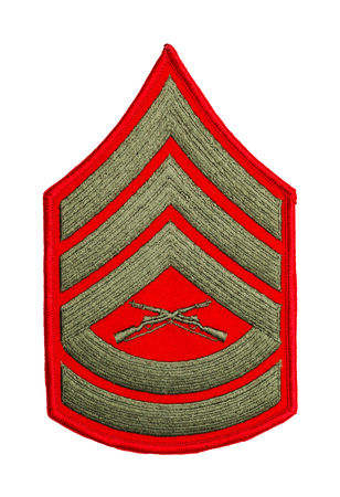 Marine Sergeant Patch Isolated on a White Background. Stock Photo