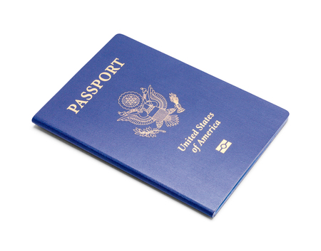 New United States Passport Isolated on a White Background. Stock fotó